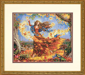 Mode 2019 Or 1x Counted Cross Stitch Fall Fairy Sewing Craft Outil Hobby Art Uk-afficher Le Titre D'origine