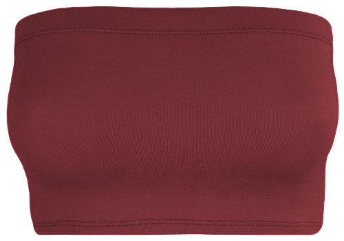 Ladies Plain New Boob Tube Strapless Bandeau Elastic Stretch Vest Bra Crop Top