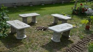 Details about Angel Cast Stone Concrete Bench mold,Garden,Patio Furniture  casting,moulding DIY
