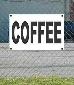 2x3 COFFEE /& DONUTS Red /& White Banner Sign NEW Discount Size /& Price FREE SHIP