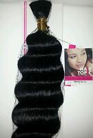 Premium Human Hair Blended/body Bulk/braiding/curly/18-20/soft & Natural