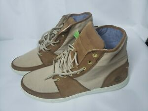 Men-039-s-TIMBERLAND-Earthkeepers-Brown-Leather-Canvas-Boots-Size-13M