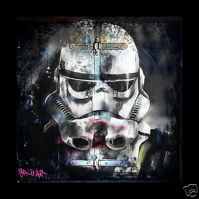 star wars movie art poster not banksy by Andy Baker street COA authentic trooper