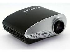 Kleiner LED Videoprojektor in schwarz silber USB und HDMI Anschluss, 20 W LED