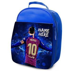 Messi-Almuerzo-Bolso-Barca-Escuela-Aislado-Ninos-Futbol-Personalizado-De-NL07