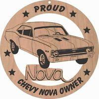 68 Chevy Nova Ss Wood Ornament Engraved
