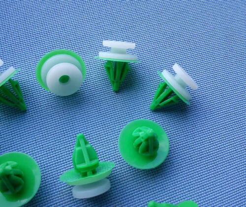 10 porta copertura clip fissaggio klips supporto Panel Bianco Verde 373 1