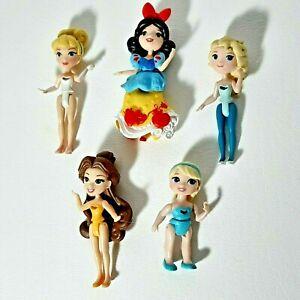 Disney-Princess-Little-Kingdom-Snap-Ins-3-034-Doll-Figure-Lot-of-5