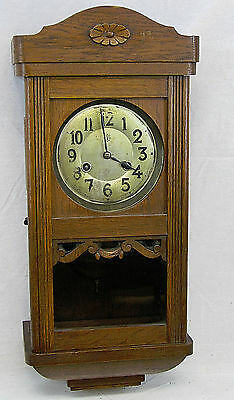 ANTIQUE JUNGHANS GERMAN WALL REGULATOR BOX CLOCK