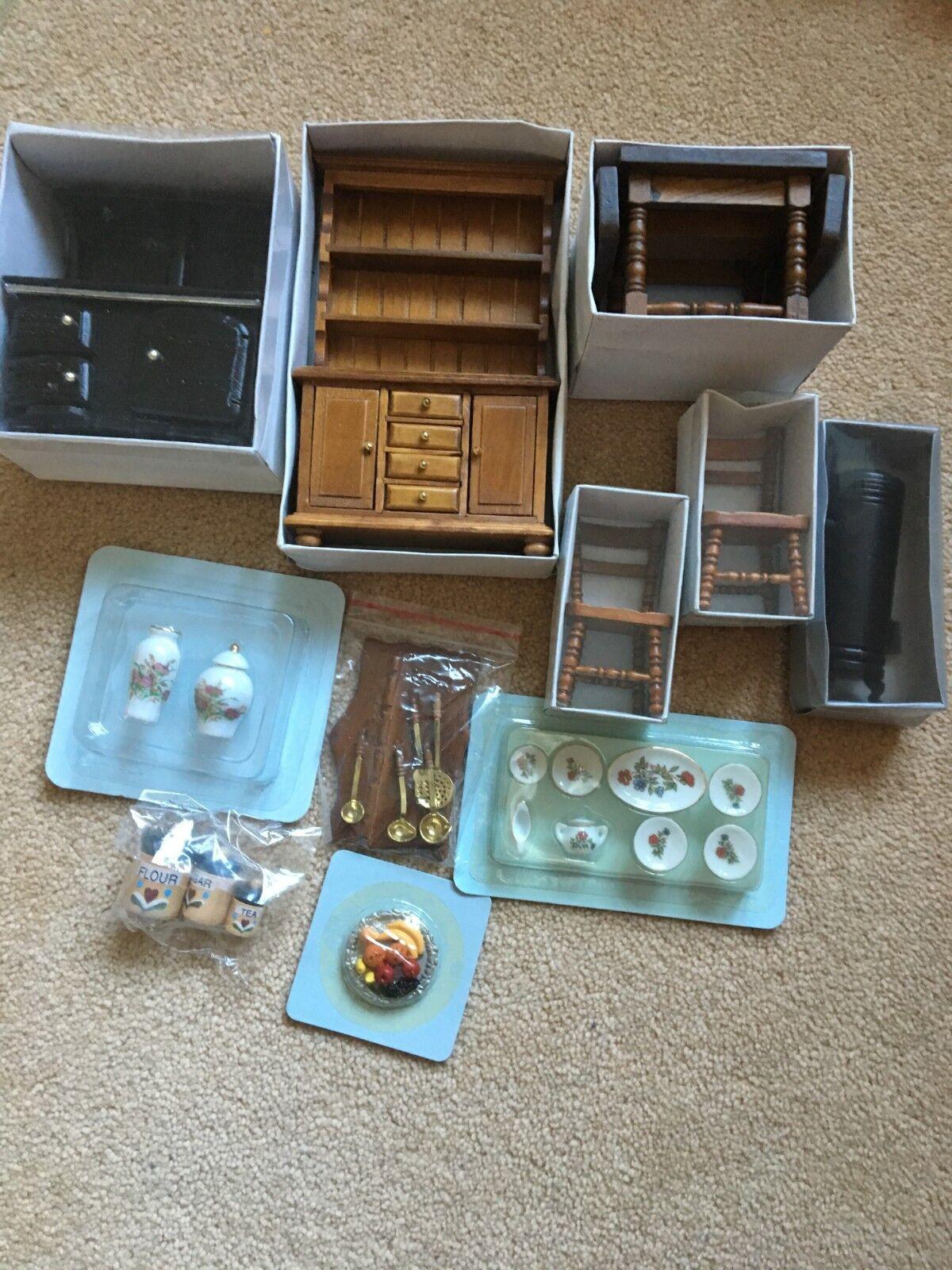 Kitchen Doll House furniture 1 12 complete DelPrado set