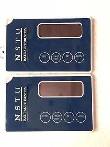 Lot-of-2-SPORTLINE-THINQ-PEDOMETER-POCKET-PEDO-Brand-New-034-Credit-Card-Size-034