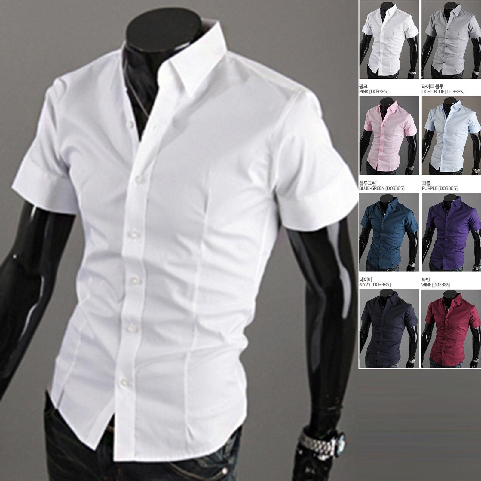 Mens Fashion Luxury Short Sleeve