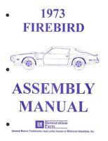 Pontiac 1973 Firebird Assembly Manual 73