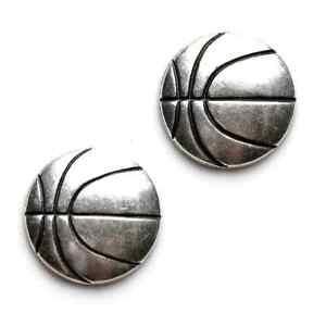 Silber Basketball Manschettenknöpfe