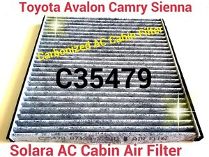 for 02 03 04 05 06 camry carbonized cabin air filter avalon sienna solara ebay. Black Bedroom Furniture Sets. Home Design Ideas