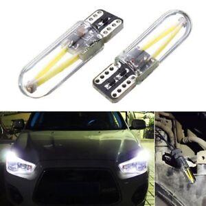 2x-T10-194-168-W5W-COB-LED-Car-truck-CANBUS-Glass-License-Plate-Light-Bulb-White