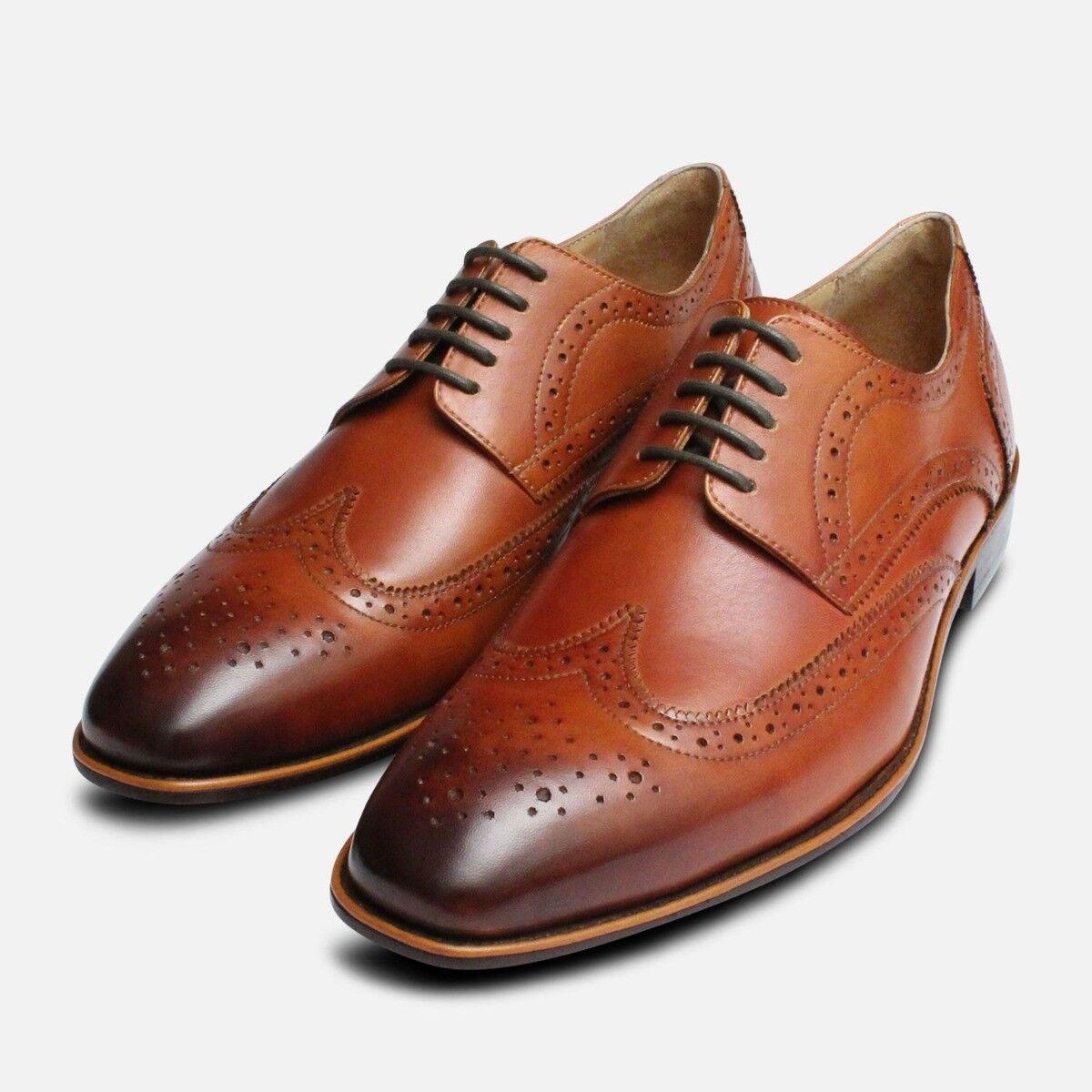 Marroneee Wingtip Scarpe con Lacci Brogues Francesine da Arthur Knight scarpe