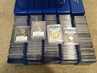 ESTATE SALE US GRADED COINS ▶PCGS NGC◀ 2 SLAB LOT/SILVER GOLD 10 & 40 YEARS+ OLD