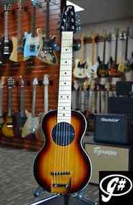 G-Sharp OF-1 Electric Travel Guitar (Sunburst, g# tuning, comes w/ gigbag)