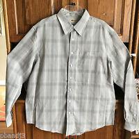 Haggar Xlt 3xlt Button Down Dress Shirt Gray Plaid