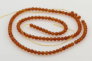 Genuine BALTIC AMBER 120 Loose Small Beads 3mm Strand Honey Cognac Color