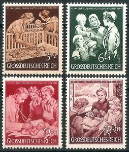 DR-Nazi-3rd-Reich-Rare-WW2-Stamp-Hitler-Jugend-Mother-amp-Child-Propaganda-Health