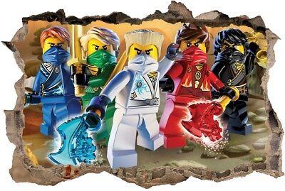 S6 Ninjago 120cm Sticker 3d Lego Wandaufkleber Wandtattoo Ebay