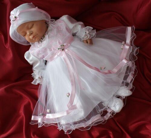 Taufkleid Festkleid Taufgewand Kleid Taufe Hochzeit  Babykleid Taufset Nr.0a85