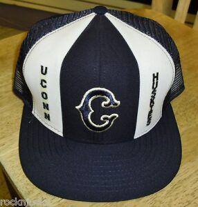 481df24e99008 UCONN Huskies hat Vintage 80s Snapback cap (LUCKY STRIPES) AJD NCAA ...