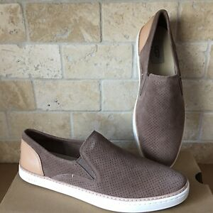 e7ef2a85d2b Details about UGG ADLEY PERF CARIBOU SUEDE LEATHER SLIP-ON SNEAKERS SHOES  SIZE US 9.5 WOMENS