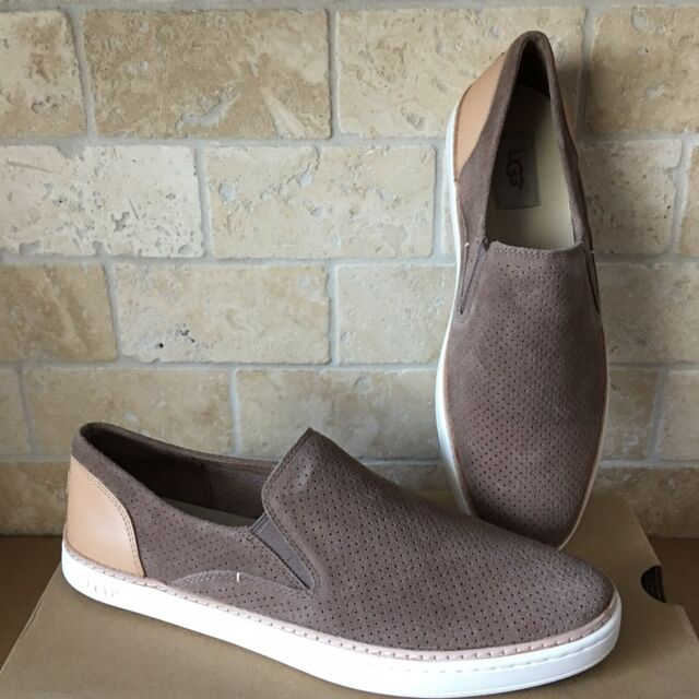 538adef7449 UGG Adley Perf Caribou Suede Leather Slip on Sneaker Womens Shoes Size US  9.5