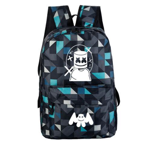 Marshmello DJ Backpack School Bag Students Bookbag Travelbag Rucksack Kids Bag