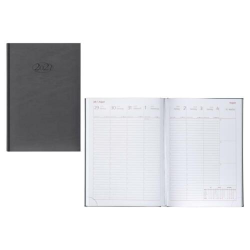 Idena Wochenkalender Sidney 2021 Farbe silber Buchkalender