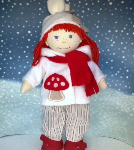 Puppen & Zubehör Jacke,Hose,Mütze und Schal creme passend für Puppe Lotta,Souri 38 cm Neu Kleidung & Accessoires
