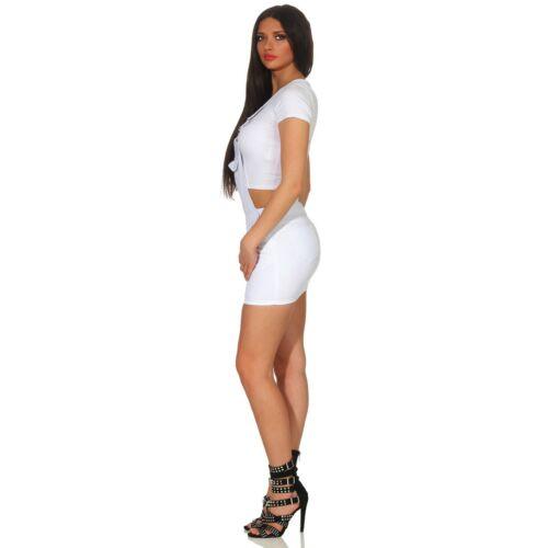 Damen Jeans Shorts Hot Pants Kurze Stretch Latz Hose Jeanslatz Latzshorts 36-44