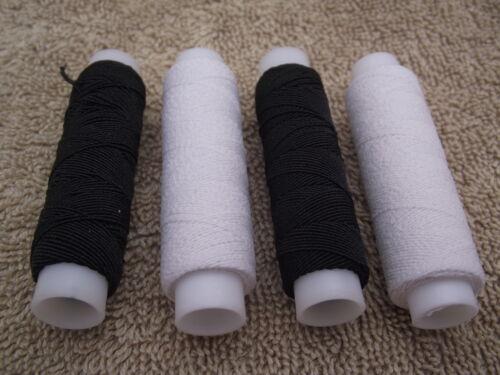 Shirring Elastic  20m Per Reel  2 White or Black//White Black 4 or 10 Reels