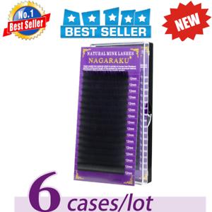 2e64a48abaa NAGARAKU 6 cases set 16rows/tray high-quality mink eyelash extension ...