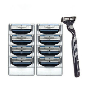 8pcs-3-Layers-Shaving-Razor-Blades-for-Man-Blades-1-Razor-Handle-Universal