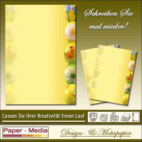 50 Blatt DIN A4 BUNTE-OSTEREIER Motiv Briefpapier