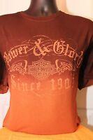 Harley-davidson Men's Brown Spray Dye T-shirt X Large