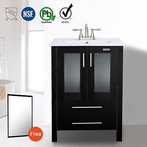 Image Is Loading 24 Inch Single Bathroom Vanity Cabinet Sink 3