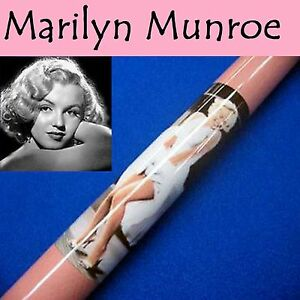 034-Officialy-Licenced-034-Norma-Jeane-Marilyn-Graphite-Pool-Cue