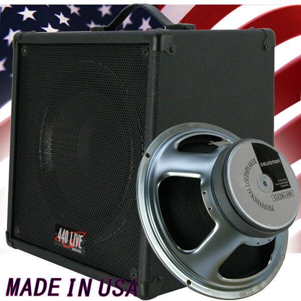 1x12 Guitar Speaker Extension Cabinet W 8 Ohms CELESTION G12 K100 B Blk Tolex