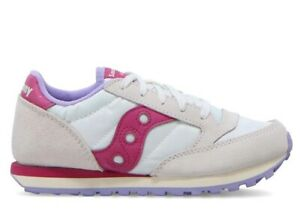 Saucony-Jazz-SK162931-White-Berry-Sneakers-Donna-Bambini-Scarpa-Casual-Sportiva