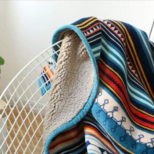 Bohemian Soft Plush Flannel Blanket Thr Ukeler Flannel Sherpa Throw 50/'/' x 60/'/'