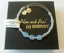 Alex and Ani White Swarovski Crystal & Silver Beaded Bracelet BOX NWT RETIRED