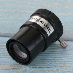 Telescope-Eyepiece-Barlow-Lens-3X-Magnification-1-25-034-Universal-M42-Thread