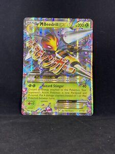 Beedrill Mega EX Card XY158 Matt Gold Card with Box Free 1 EX card