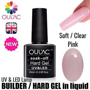 Image Is Loading SOFT CLEAR PINK LIQUID HARD BUILDER GEL UV