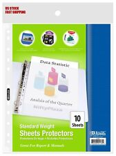 Standard Weight Top Loading Sheet Protectors 10pack Protect Your Papers